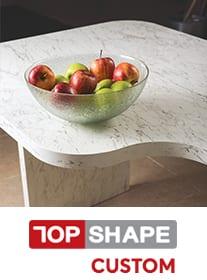 TopShape Custom bespoke square edge kitchen worktop service