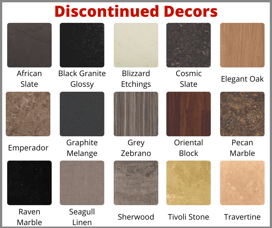 Discontinued Worktop Decors