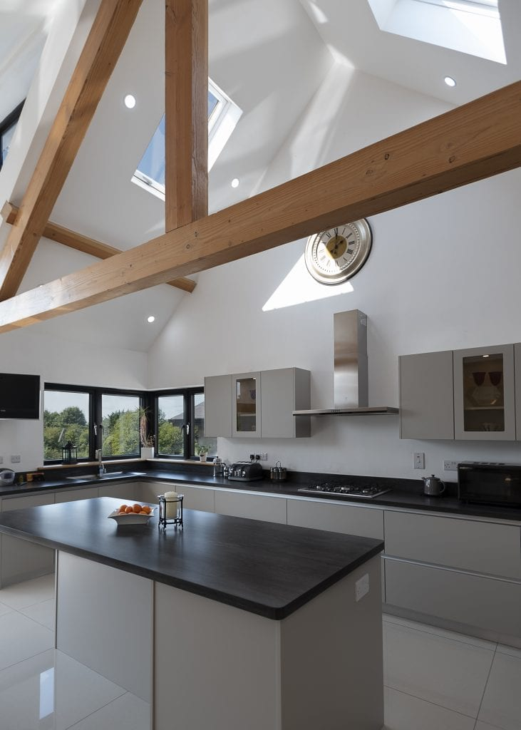 Urban Stone Dusky Black Décor used for a modern, elegant Irish kitchen