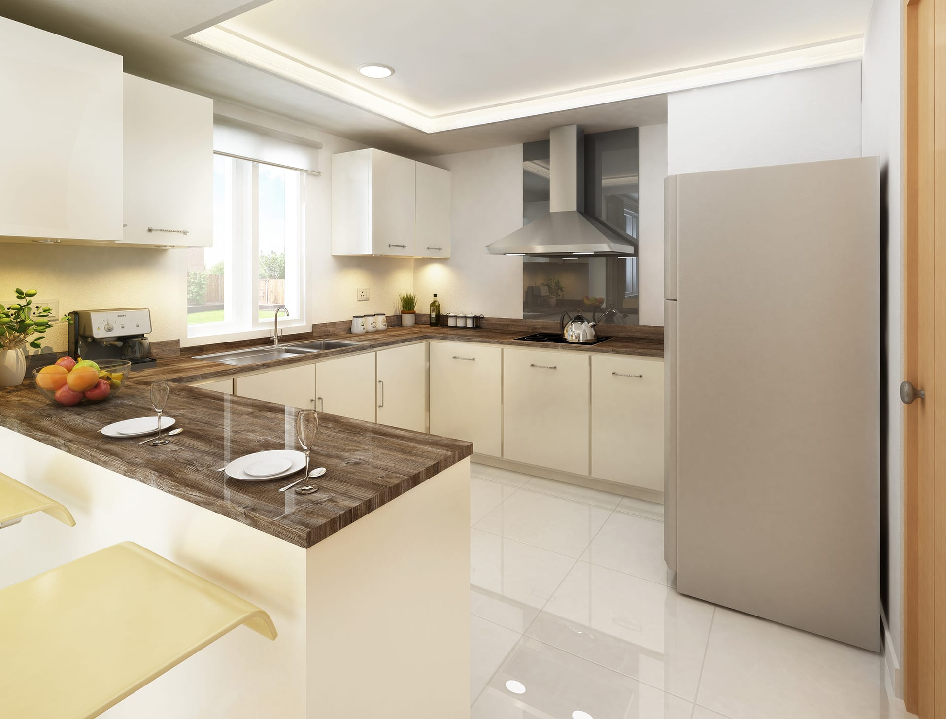 A bespoke wood worktop from our TopWood product range